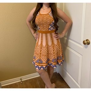 Anthropologie strawberry and champagne dress